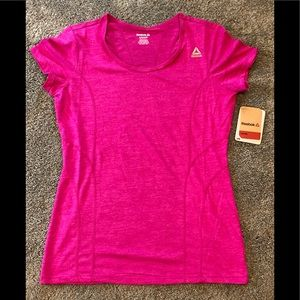 NWT Reebok Women's Fitted Poly Marled T-Shirt